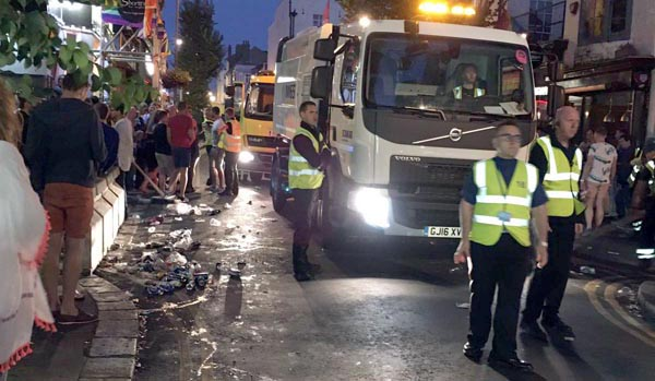 Clearing up after Brighton Pride