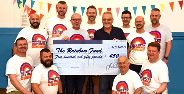 Brighton Gay Men's Chorus raise £450 for Rainbow Fund