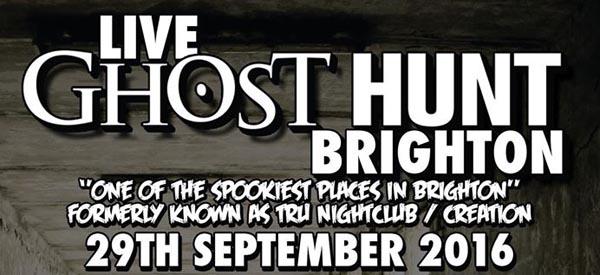 Live Ghost Hunt Brighton – Spooky!