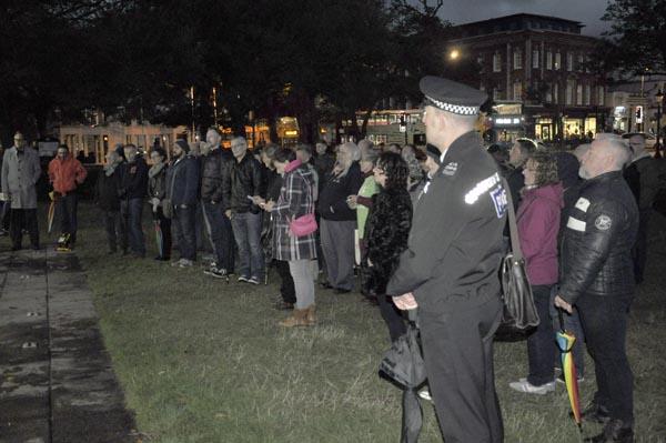 Brighton marks 'Hate Crime Awareness Week' at Old Steine vigil