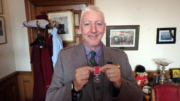 Kinny Gardner receives British Empire Medal