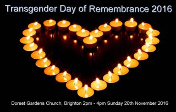 Transgender Day of Remembrance Memorial Service today at 2pm