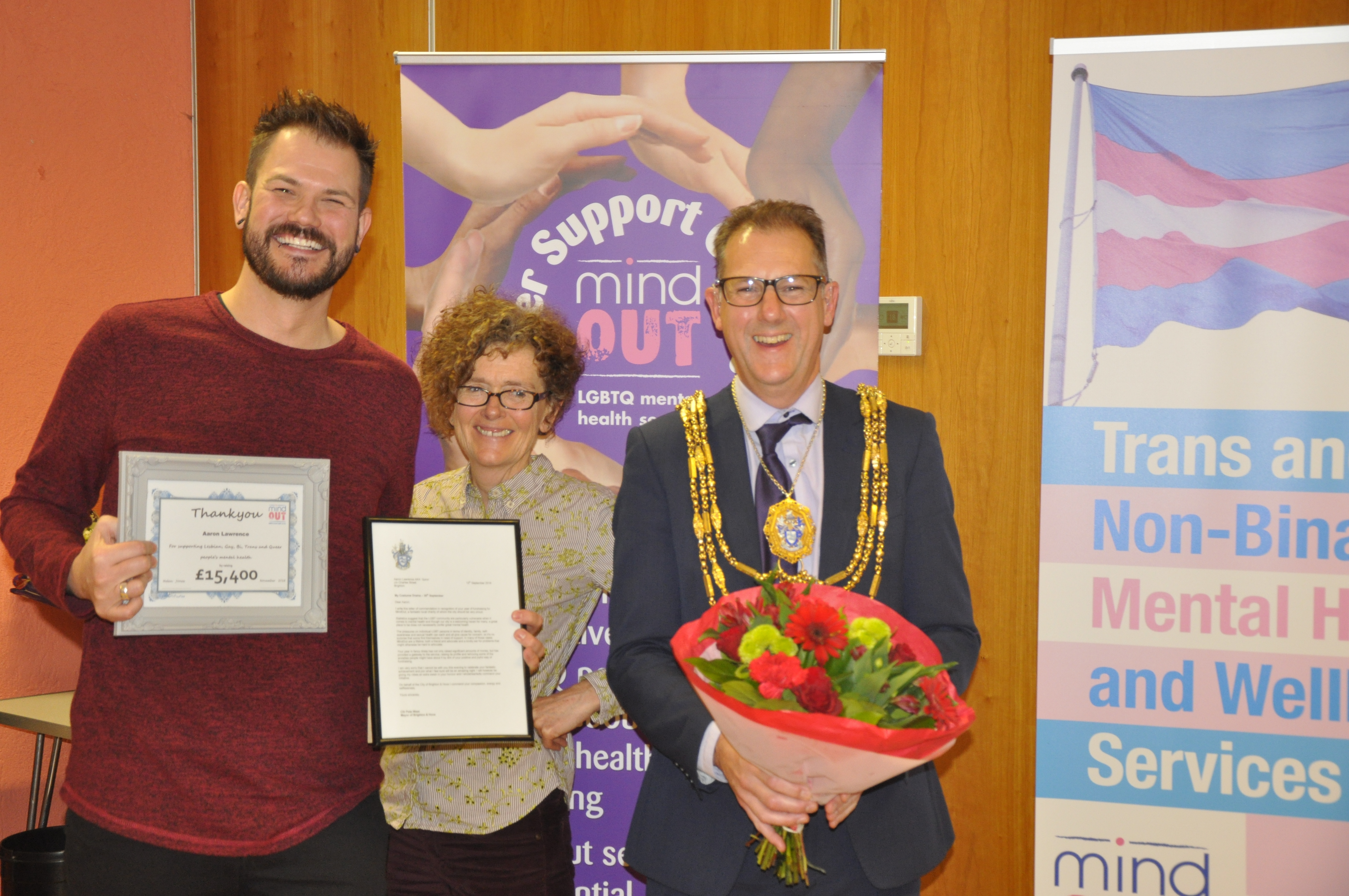 MindOut honour fundraising achievements of Spice and Bedford Tavern
