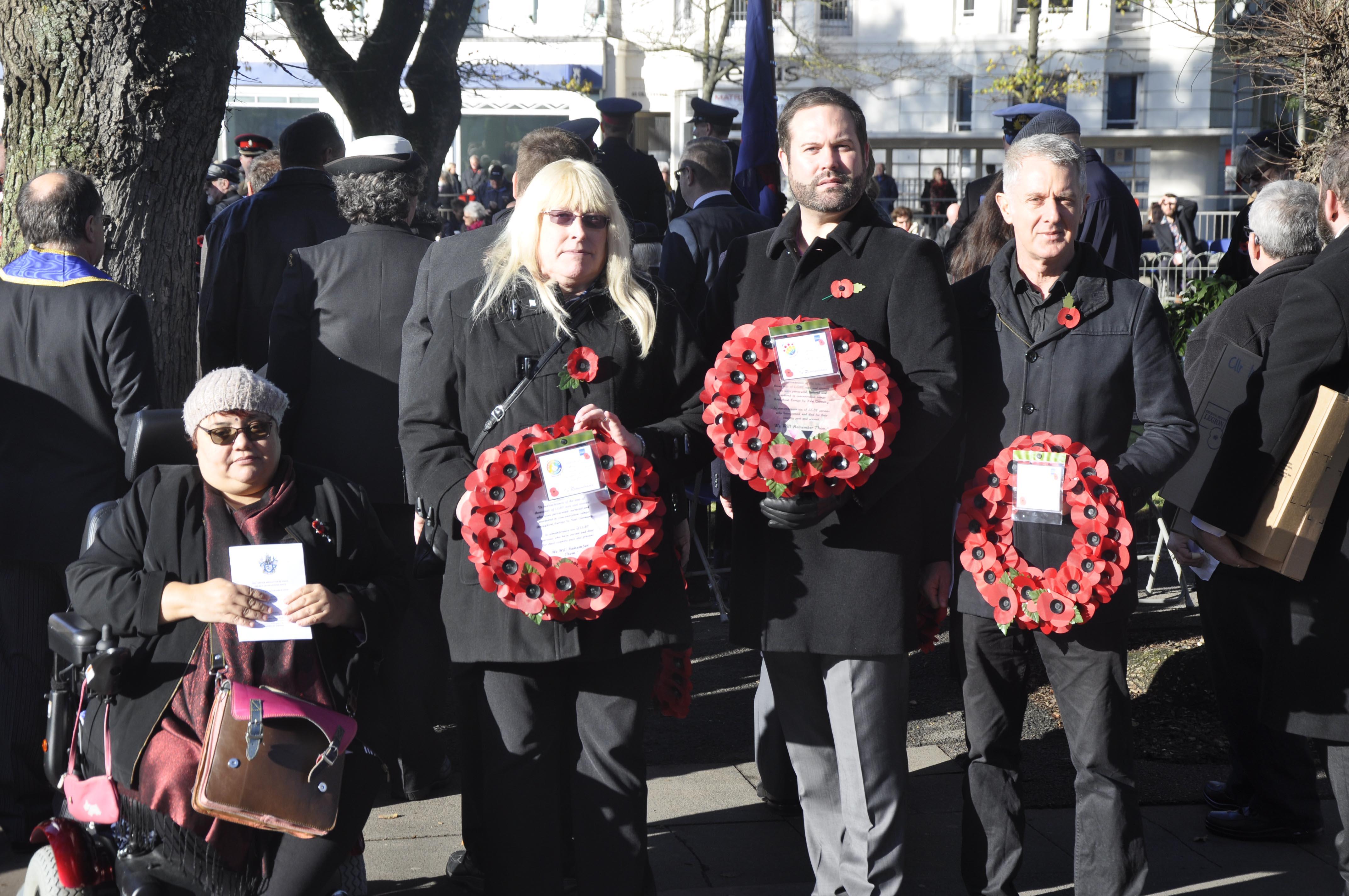 LGBT+ community representatives honour the fallen