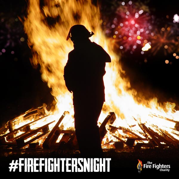 Charity turns 'Fireworks Night' into 'Firefighters Night' to support 999 heroes