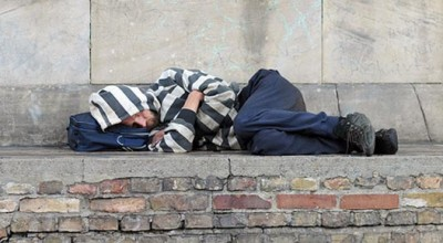 Rough sleeping in the city increases