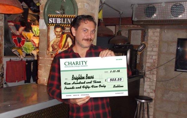 Subline and Brighton Bears raise £503.55 for Rainbow Fund