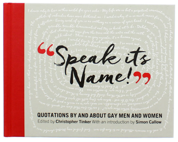 BOOK REVIEW: Speak it's Name!: Quotations by and about gay men and women
