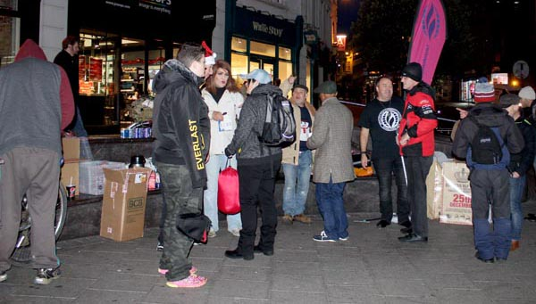 MCC support homeless at Clock Tower on Xmas Eve