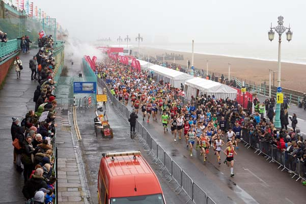 Superstar DJ starts the Vitality Brighton Half Marathon
