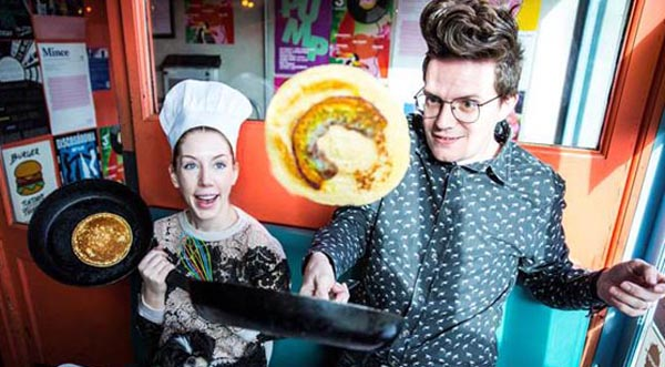 Rainbow pancakes, TV stars battle to become the 'Biggest Tosser' and raise money for THT