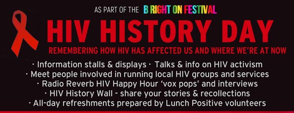 TODAY: B RIGHT ON LGBT Festival: HIV History Day and Community Meal