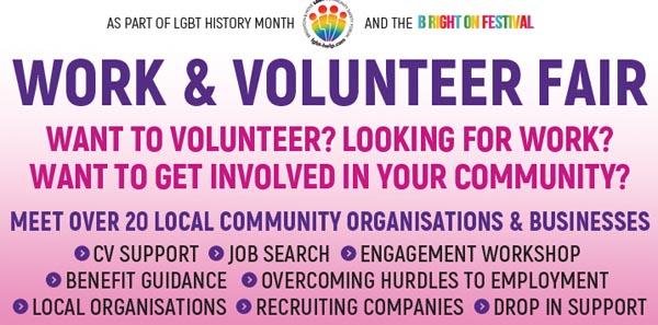 B RIGHT ON Festival: LGBT Work and Volunteer Fair today