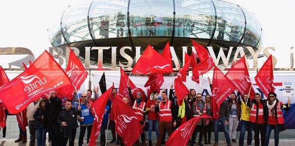 British Airways striking cabin crew bring their protest to Brighton's i360