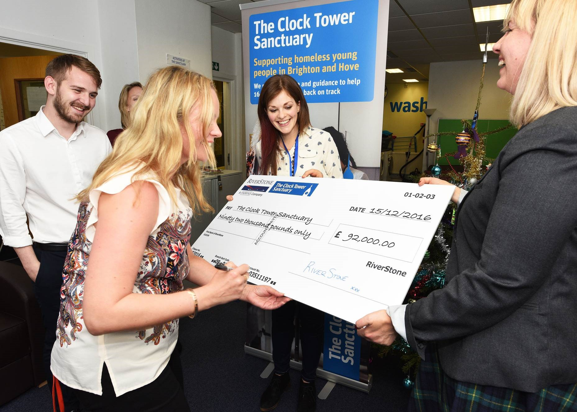 Youth homeless charity receives massive donation from Brighton business