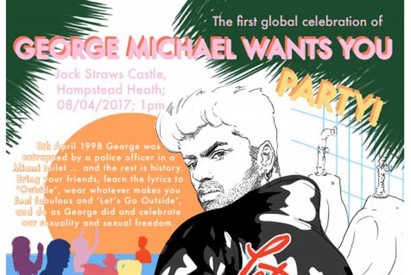 George Michael celebration on Hampstead Heath today