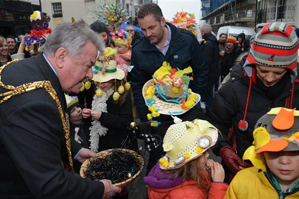 Annual Easter Bonnet Parade and Drag races in Hove today at 2pm
