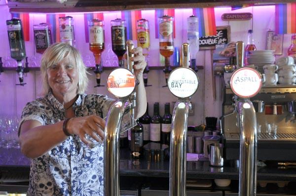 Who's the boss behind the bar @Velvet Jacks?