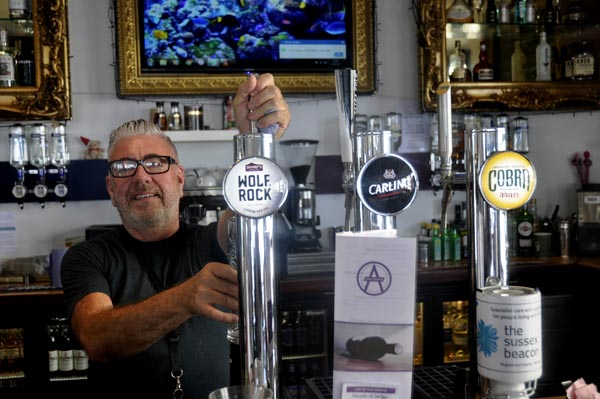 Who's the boss behind the bar @Amsterdam Bar and Kitchen?