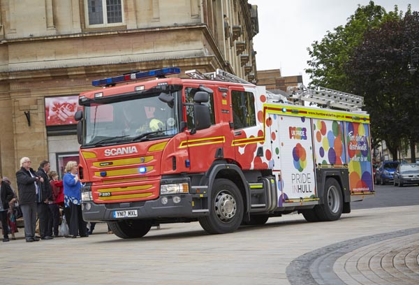 Fire Service unveils new engine in support of LGBT+ equality