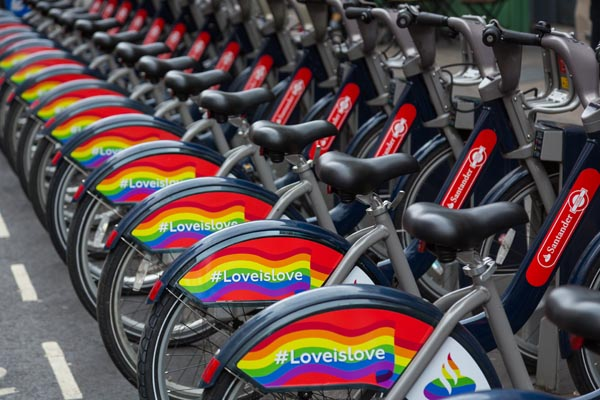 Transport for London wraps up in rainbows for London Pride