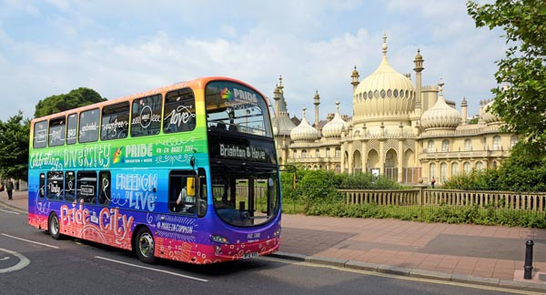 Brighton Pride 'Diversity Bus' named after iconic drag queen