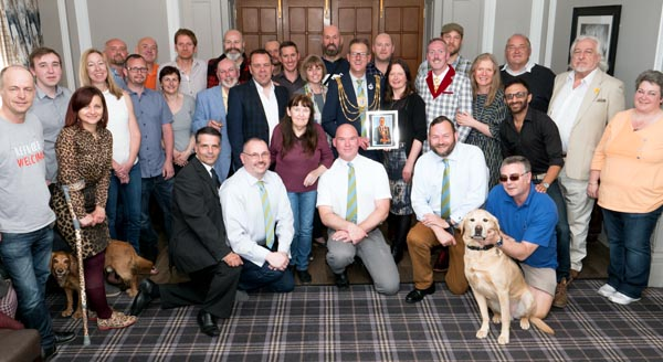 Bear-Patrol thank outgoing Mayor for his support