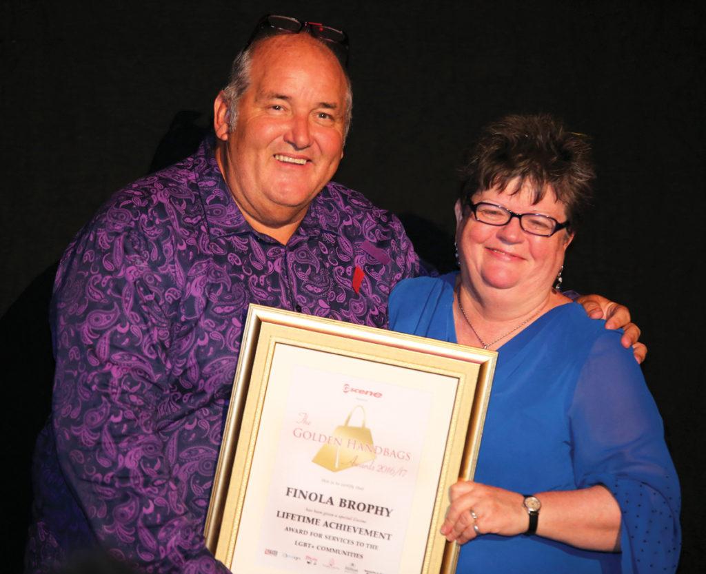 Chair Of Rainbow Chorus Receives Lifetime Achievement Award At Golden Handbag Ceremony Gscene Magazine What S On In Brighton