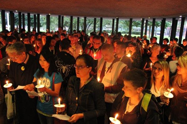 Newcastle Pride candlelit vigil to mark LGBT+ struggle