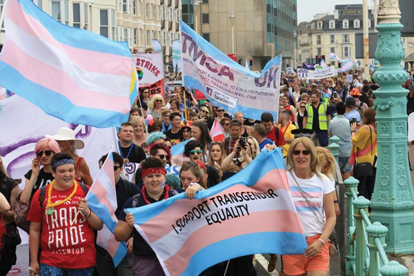 Despite poor weather forcast, record crowds expected at Trans Pride 2017 today