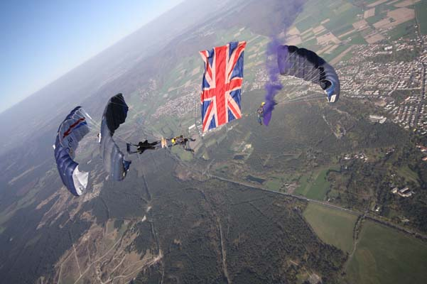 Tigers parachute team to open Brighton Pride Community Parade