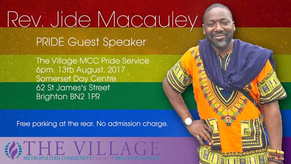 PREVIEW: PRIDE VOICES with Rev Jide Macauley