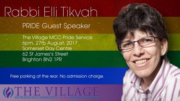 PRIDE VOICES: Rabbi Elli Tikvah to speak at Village Metropolitan Community Church