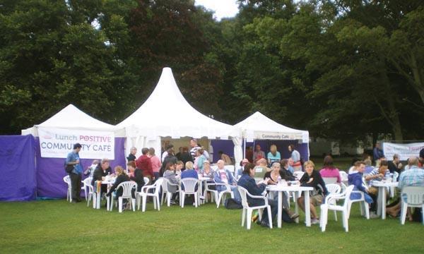 Lunch Positive host community café at Pride on Preston Park