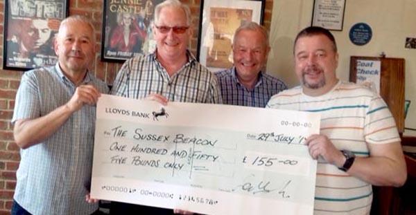 Eastbourne Rainbow raise £155 for local HIV charity