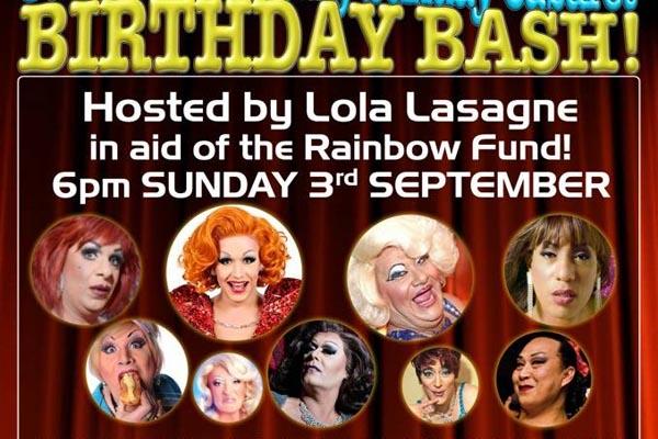 Mega fundraising birthday bash at Charles Street today to benefit Rainbow Fund