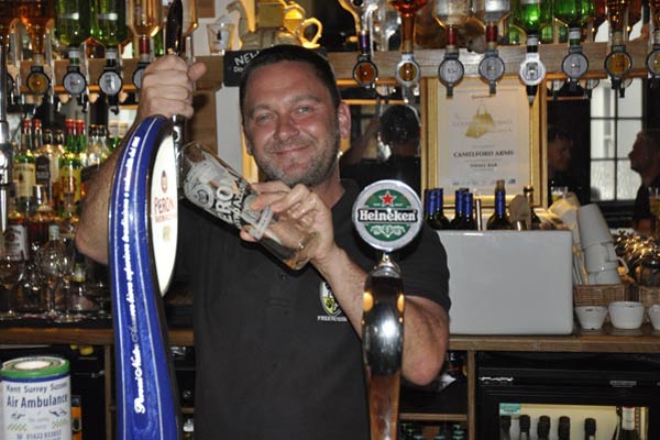 Who's the boss behind the bar @Camelford Arms