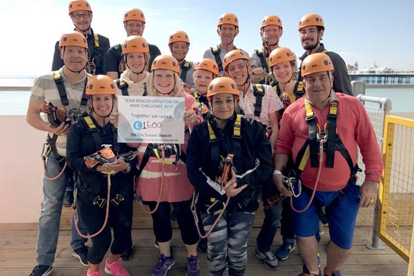 Staff and volunteers raise £1,600 for Sussex Beacon