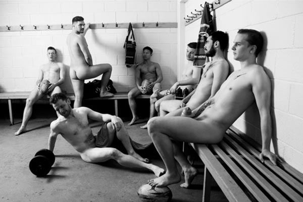 Gay rugby players bare all for charity