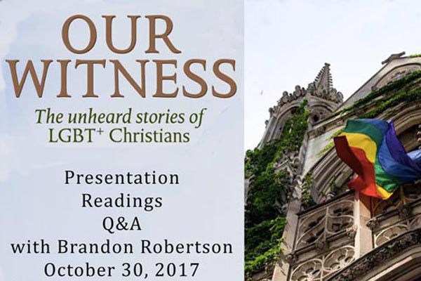 Brandon Robertson book launch at The Village MCC