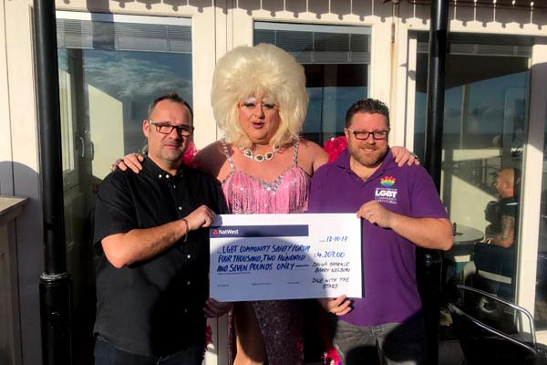 Entertainers raise £4,207 for LGBT+ community safety initiatives