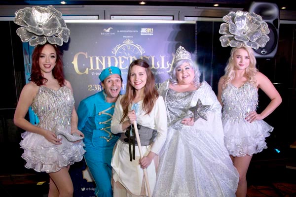 David Essex guest stars on video in Brighton family panto