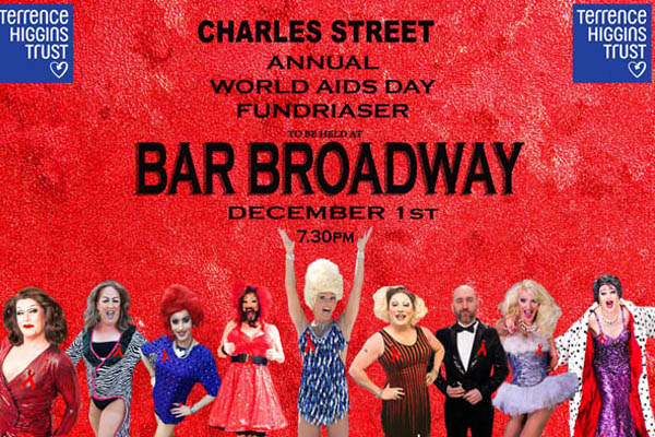 World AIDS Day charity fundraiser for THT tonight (December 1) at Bar Broadway