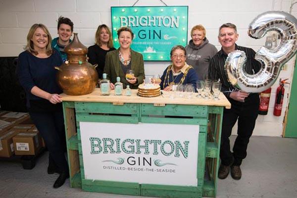 Mayor helps Brighton Gin celebrate third birthday