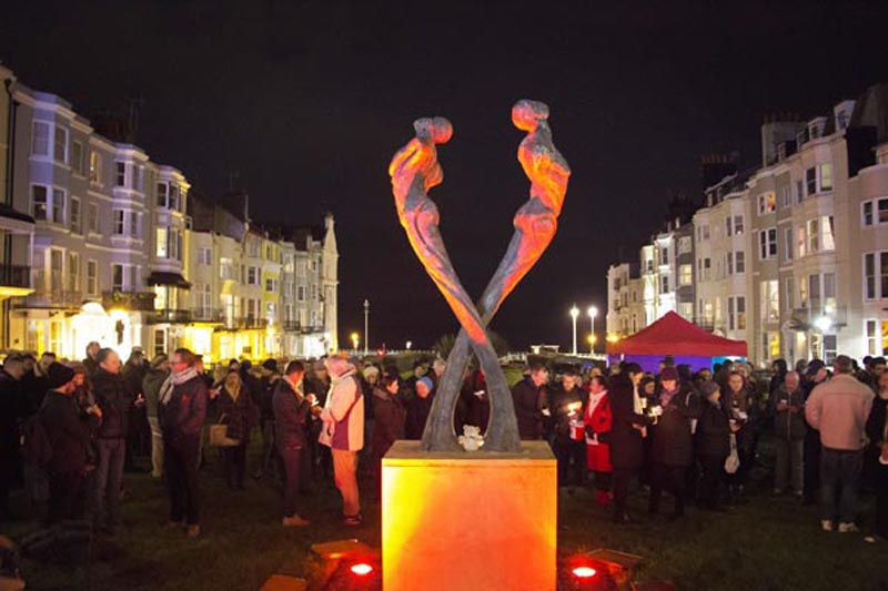 Mayor of Brighton & Hove leads the reading of the names on World AIDS Day