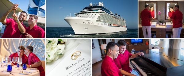 Here comes the Pride! Celebrity cruises holds historic wedding at sea