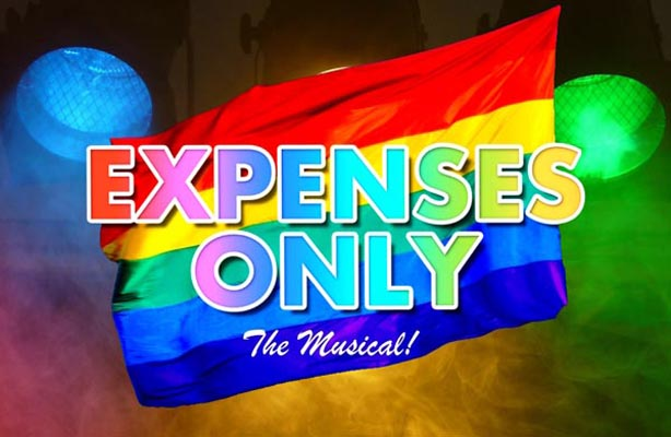 Tonight at B RIGHT ON LGBT Community Festival: Expenses Only The Musical! – World Premier.