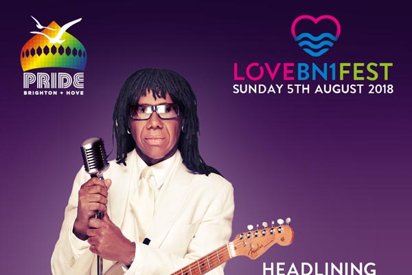 Nile Rodgers & CHIC to headline new 'LoveBn1Fest' on Pride Sunday