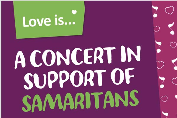 PREVIEW: Love is…. a concert in support of Samaritans