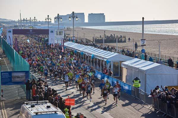8,000 run in The Grand Brighton Half Marathon 2018